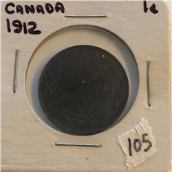 Very Nice 1912 Canada Large Cent in a Old Holder