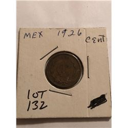 1926 Mexico 1 Cent Nice Early Coin