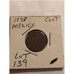 1933 Mexico 1 Cent Nice Early Coin