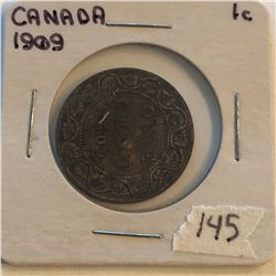Very Nice 1909 Canada Large Cent in a Old Holder