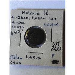 Rare Vintage MALDIUS Islands Lorin Coin not sure of date