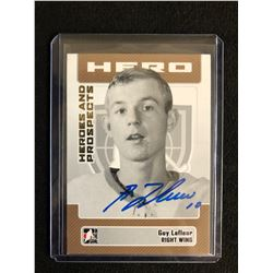 GUY LAFLEUR SIGNED ITG HEROES & PROSPECTS HOCKEY CARD