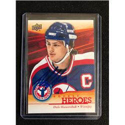 DALE HAWERCHUK SIGNED UPPER DECK HOCKEY HEROES TRADING CARD
