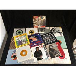 VINYL RECORD LOT (45's) WEIRD AL, FLOCK OF SEAGULLS, MICHAEL JACKSON...