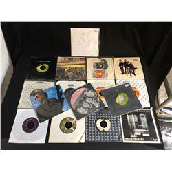 VINYL RECORD LOT (45's) BEATLES, GEORGE HARRISON...
