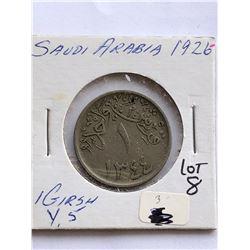 1926 Saudi Arabia 1 Girsh Coin Nice