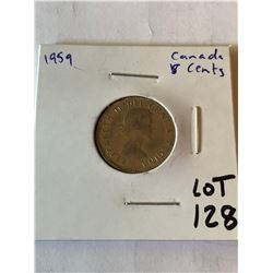1959 Canada 5 Cents Nice Early Coin