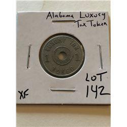 Vintage ALABAMA Luxury Tax Token Extra Fine Grade
