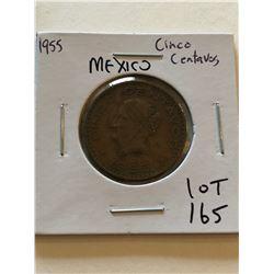 1955 Mexico Cinco Centavos Nice Early Coin