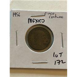 1956 Mexico Cinco Centavos Nice Early Coin