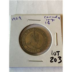 1909 Canada Large One Cent Nice Early Coin