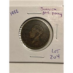 1952 Jamaica One Penny Nice Coin
