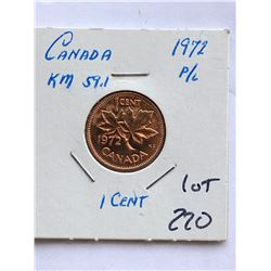 1972 Canada 1 Cent PROOF LIKE High Grade Coin