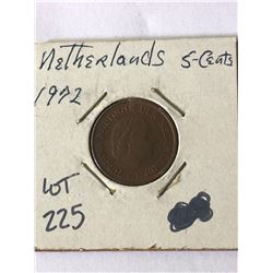 1972 Netherlands 5 Cents in MS High Grade