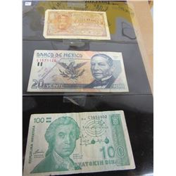 STOCK SHEET COLLECTIBLE CURRENCY BANK NOTES