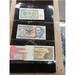 STOCK SHEET RUSSIA & MEXICO CURRENCY BANK NOTES