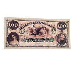 Django Citizen's Bank of Louisiana $100 Bank Note Movie Props