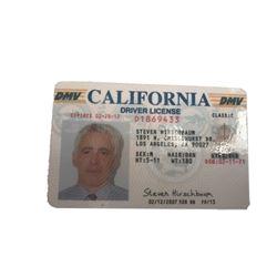 The Closer TV Adam Arkin (Steve Hirschbaum) Driver's License Movie Props