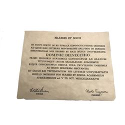 Delvecchio TV Certificate Prop