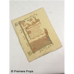 Season of the Witch Book of Solomon Page Movie Props