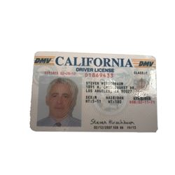 The Closer TV Adam Arkin (Steve Hirschbaum) Driver's License Movie Props