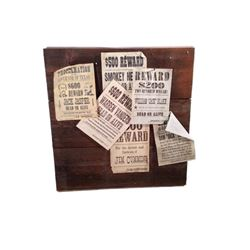 "Django ""Wanted"" Poster Board Movie Props"
