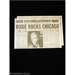 Chicago Roxie (Renee Zellweger) Newspaper Movie Props