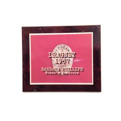 Dragnet Credits Plaque Movie Props