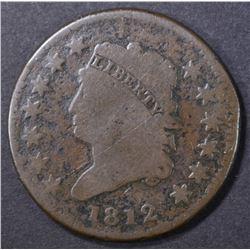 1812 LARGE CENT, AG hit reverse