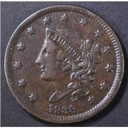 1838 LARGE CENT, VF/XF