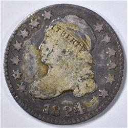1824/2 BUST DIME, VG
