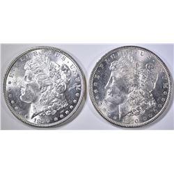 2-1890 MORGAN DOLLARS, CH BU
