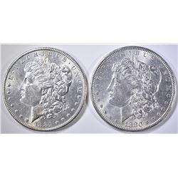 1880 & 1881-O BU MORGAN DOLLARS
