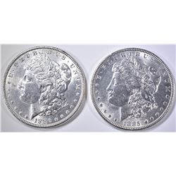 1885 & 1886 BU MORGAN DOLLARS