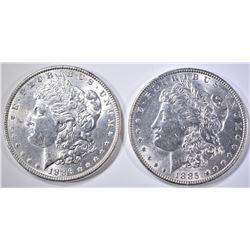 1885 & 1886 BU MORGAN DOLLARS
