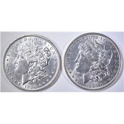 1889 & 1896 BU MORGAN DOLLARS