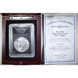 """1926 PEACE DOLLAR """"HIGH RELIEF GOD"""" IN BOX"""