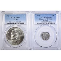 2 PCGS GRADED COINS: