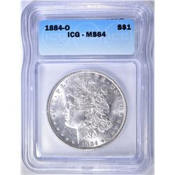 1884-O MORGAN DOLLAR  ICG MS-64
