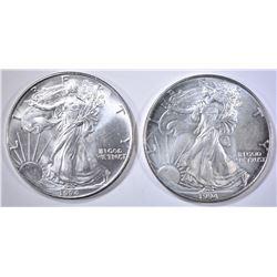 2 1994 SILVER AMERICAN EAGLES