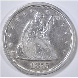 1875-S 20 CENT PIECE   XF/AU