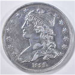 1835 BUST QUARTER   AU CLEANED