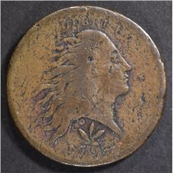 1793 WREATH CENT  F/VF SOME PITTING