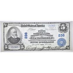 1902 $5 NC 1ST NB & TC SPRINGFIELD, OH