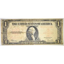 1923 $1 US NOTE PIN HOLE CENTER