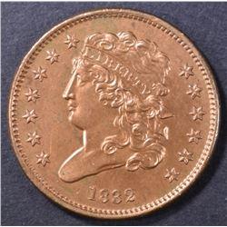 1832 HALF CENT  CH BU RB