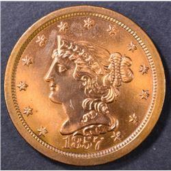 1857 HALF CENT  BU