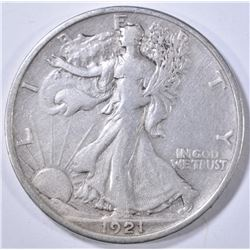 1921 WALKING LIBERTY HALF DOLLAR  XF