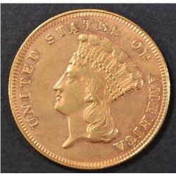 1870 $3 GOLD   AU/BU