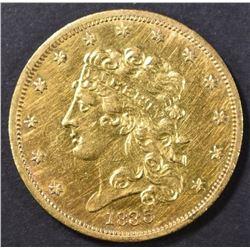 1835 $5 CLASSIC HEAD GOLD  AU